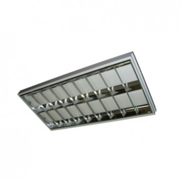 HALF-MIRROR LOUVER FITTING FOR LED T5/T8 TUBE