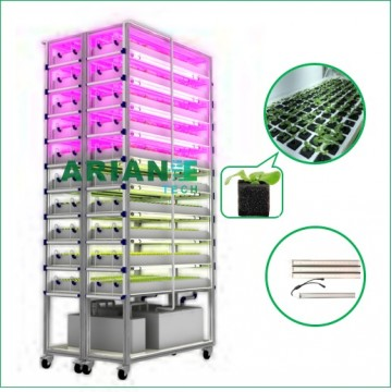 SMARTAGRO Microgreen&Seeding Vertical Indoor Hydroponics seeding system,Cultivation Rack
