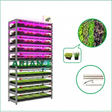 SMARTAGRO Microgreen Vertical Indoor Cultivation Rack, Layer-Customizable Grower Agritech 4.0