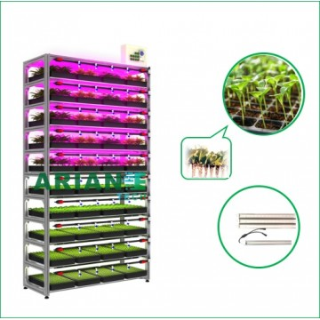 SMARTAGRO Seeding Vertical Indoor Cultivation Rack, Layer-Customizable Grower Agritech 4.0