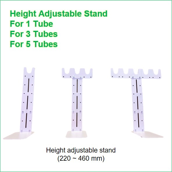 height adjustable clips for 1_3_5 tube