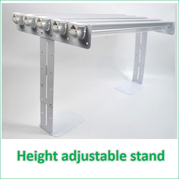 height adjustable clips for 5 tube FDGH