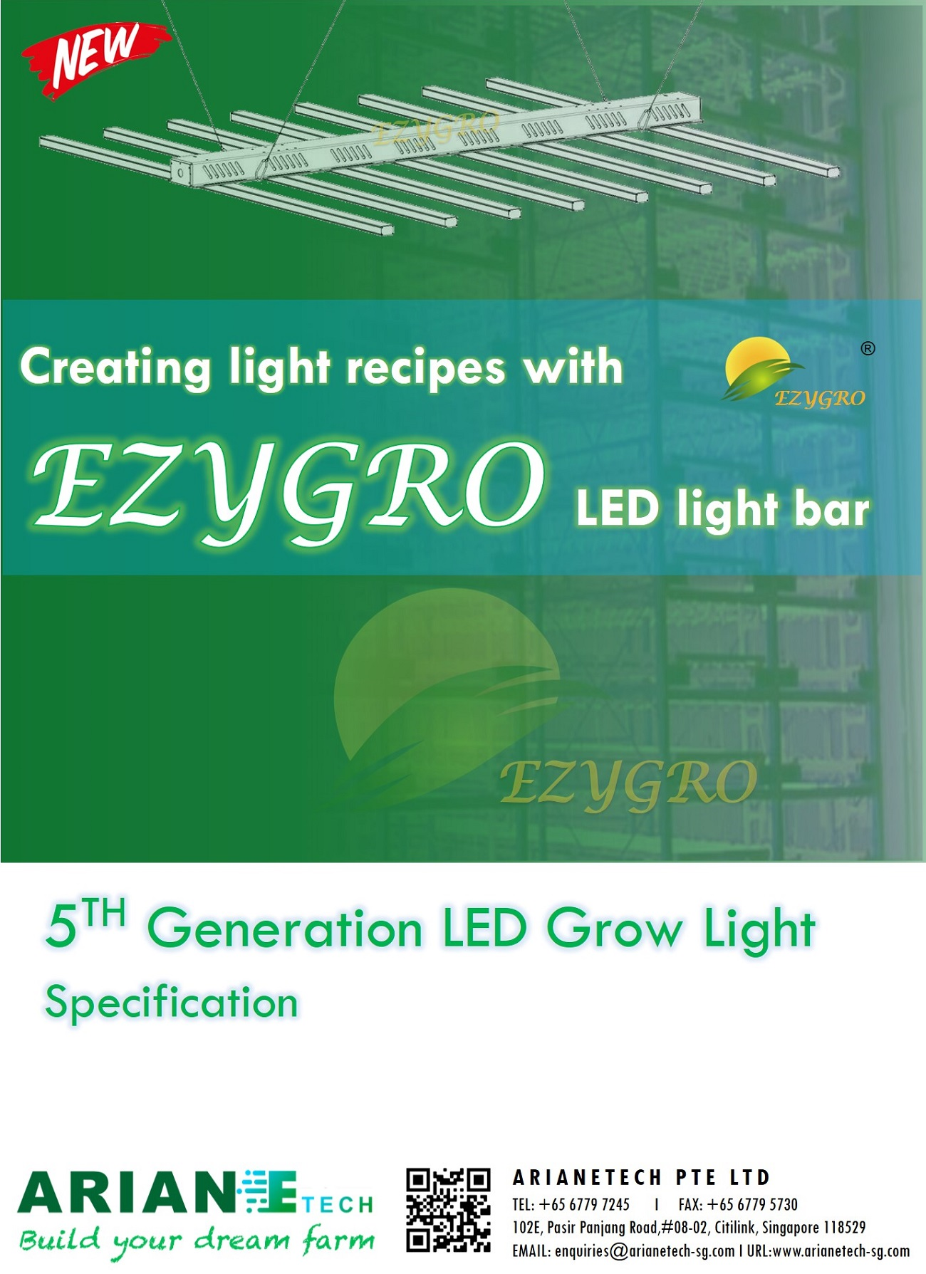 5 generation ezygro led grow light bar for crops in vertical farming 1