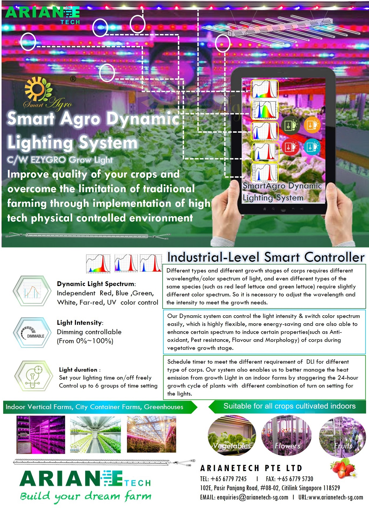 Smart Agro Dynamic Lighting Touch Screen Panel Control System1