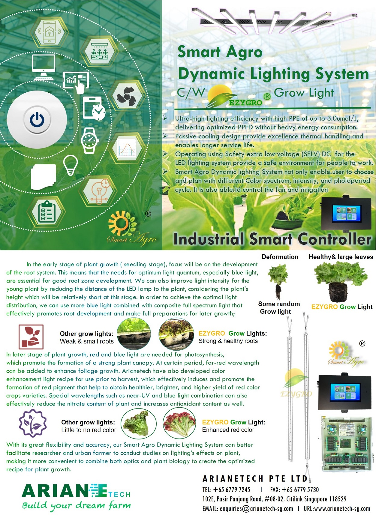 Smart Agro Dynamic Lighting Touch Screen Panel Control System2